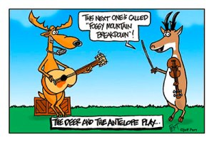 Deer and Antelpe play